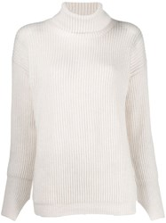 Liska Ribbed Jumper White
