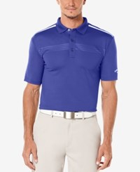 Callaway Men's Golf Performance Embossed Polo Clematis Blue
