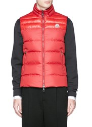 Moncler 'Dupres' Quilted Down Vest Red