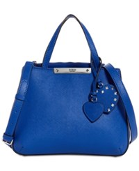 Guess Britta Society Small Top Handle Satchel Blue