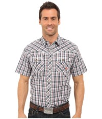 Ariat Elliot Snap Shirt Briquet Men's Short Sleeve Button Up Brown
