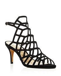 Vince Camuto Paxton Caged High Heel Sandals Black