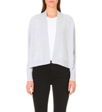 Whistles Open Front Cashmere Cardigan Grey