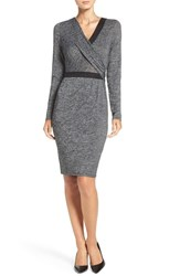 Adrianna Papell Women's Knit Faux Wrap Dress