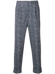 Circolo 1901 Knitted Cropped Trousers Blue