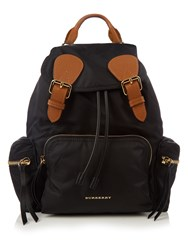 Burberry Medium Nylon Backpack Black