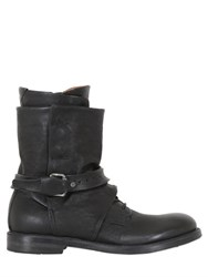 A.S.98 Zip Buckle And Buttons Leather Boots
