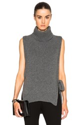 Rosetta Getty Cashmere Turtleneck Poncho In Gray
