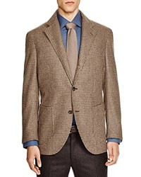 Eidos Houndstooth Regular Fit Sport Coat Tan Brown