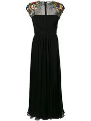 Escada Embellished Shoulders Dress Black