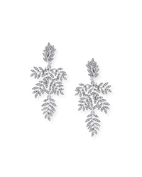Oscar De La Renta Crystal Vine Drop Clip Earrings