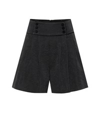 Dolce And Gabbana Floral Jacquard Shorts Black