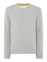 Farah Bernard Regular Fit Loopback Crew Neck Sweat Grey