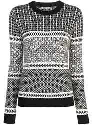Jason Wu Patterned Sweatshirt Black
