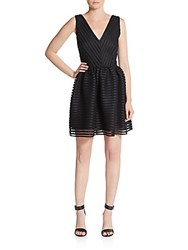 Saks Fifth Avenue Red Sleeveless Mesh Dress Black