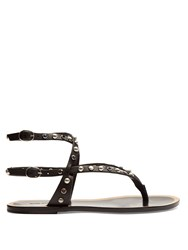 Isabel Marant Audrio Stone Embellished Sandals Black Multi