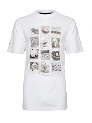 Raging Bull Memories Graphic Crew Neck Regular Fit T Shirt White