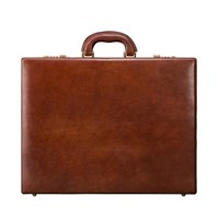Maxwell Scott Bags Italian Leather Expandable Leather Attache Case