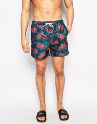 Another Influence Floral Swim Shorts Black