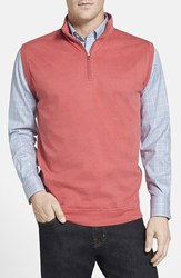 Men's Peter Millar Interlock Knit Quarter Zip Vest Grenadine