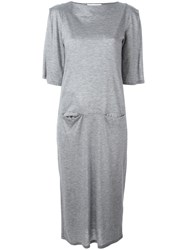Facetasm Jersey Midi Dress Grey