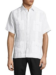 Saks Fifth Avenue Solid Linen Shirt Ivory