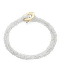 Lauren Ralph Lauren Chain Toggle Collar Necklace Two Tone