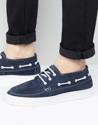 Selected Homme Hightop Boat Shoes Navy