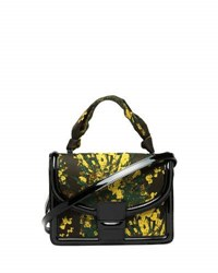 Dries Van Noten Floral Brocade Top Handle Bag Yellow