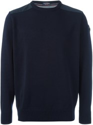 Paul And Shark Logo Patch Pullover Blue