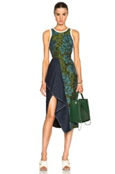 3.1 Phillip Lim Cascading Skirt Ruffle Dress In Green Floral