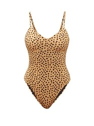 Haight Beca Leopard Print Swimsuit Leopard