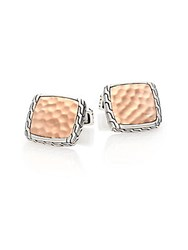 John Hardy Palu Bronze And Sterling Silver Cuff Links No Color