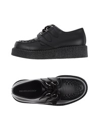Underground Footwear Lace Up Shoes Women Black