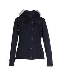 Crust Coats And Jackets Down Jackets Women Dark Blue