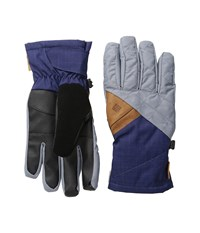 Columbia St. Anthony Gloves Tradewinds Grey Crossdye Nightshade Melange Ski Gloves Blue