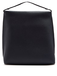 The Row Wander Leather Shoulder Bag Navy