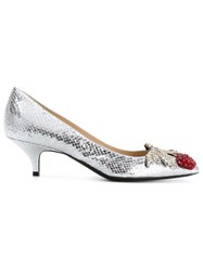 N 21 No21 Embellished Low Pumps Women Calf Leather Leather 36 Metallic