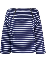 Semicouture Striped Long Sleeve Top 60