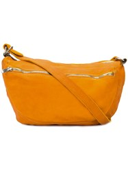 Guidi Zip Messenger Bag Unisex Buffalo Leather One Size Yellow Orange