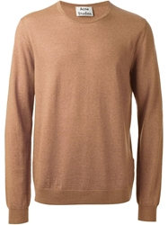 Acne Studios Crew Neck Sweater Nude And Neutrals