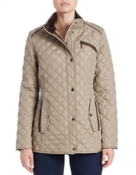 Weatherproof Quilted Faux Fur Lined Coat Toffee