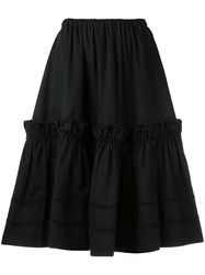 79c5fbcb179 Yves Saint Laurent Vintage Rive Gauche Tiered Skirt Black