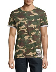 Eleven Paris Camouflage Tee Multicolor
