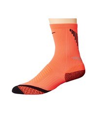 Nike Elite Running Cushion Crew Bright Crimson Black Black Crew Cut Socks Shoes Red