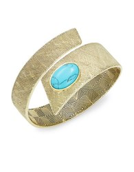 House Of Harlow Tanta Stone Accented Textured Cuff Blue
