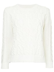 Coohem Cable Knit Jumper White