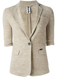 Bark Half Sleeve Blazer Nude And Neutrals