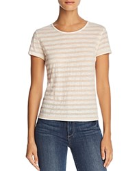 Michelle By Comune Sharon Heather Stripe Tee Peach Sorbet