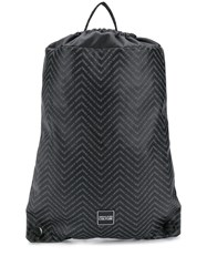 Versace Jeans Couture Chevron Logo Backpack Black